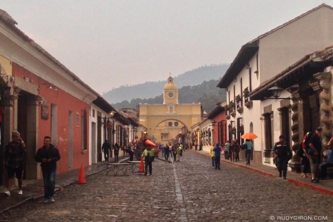 Rudy Giron: Antigua Guatemala &emdash; Rainy Thursday of February