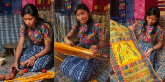 © Antigua Artisan Triptych: The Mayan Weaver by Rudy Giron