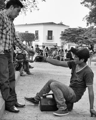 The Shoe-shine Transaction © Rudy Giron