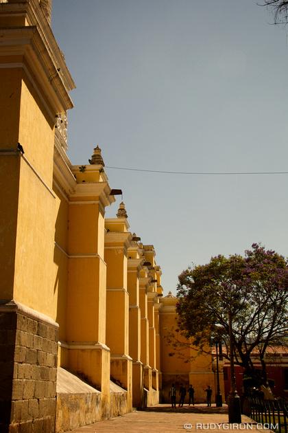 Rudy Giron: Antigua Guatemala &emdash; Sunshine, Jacarandas and Chamuscas At La Merced Church