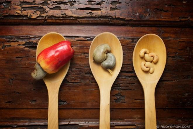 Rudy Giron: Antigua Guatemala &emdash; Guatemalan Fruits and Nuts: cashew plum, cashew seeds and cashew nuts