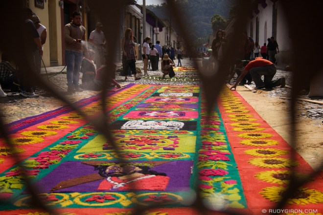 Rudy Giron: Antigua Guatemala &emdash; Holy Week Vistas: Colorful Processional Carpets