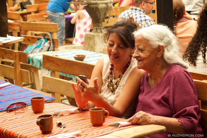 Rudy Giron: Antigua Guatemala &emdash; Mother and Daughter at Diner