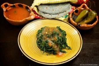 © Guatemalan Basket Food: Bledo by Rudy Giron