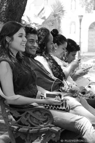 © Conversations at Parque Central by Rudy Giron