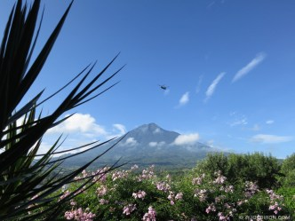 U.S. Chinook and Blackhawk Helicopters Over Antigua Guatemala