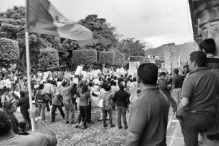 Paro Nacional en La Antigua Guatemala.