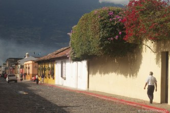 """title=""""© Typical Street Vista from Antigua Guatemala by Rudy Giron"""""""