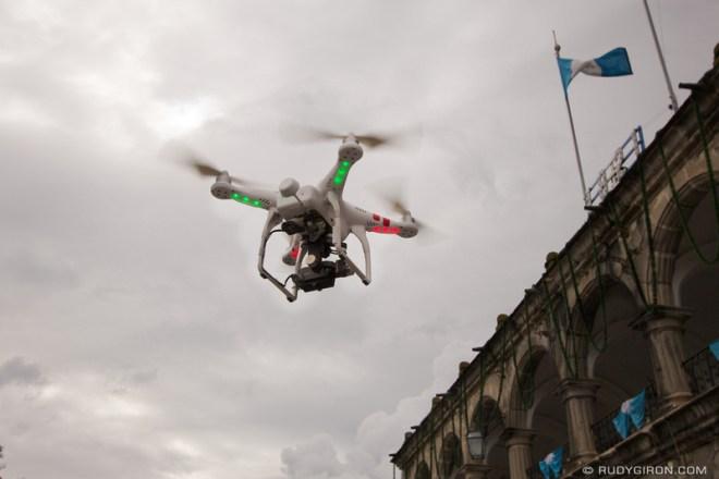 Rudy Giron: Antigua Guatemala &emdash; Drone flying over Antigua Guatemala