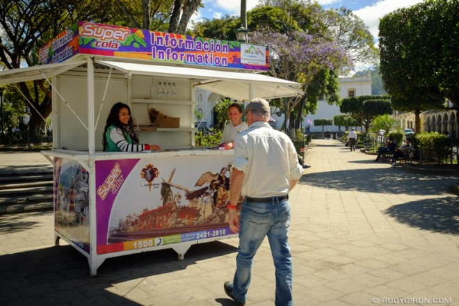 Rudy Giron: Antigua Guatemala &emdash; Lent and Holy Week Information Kiosks