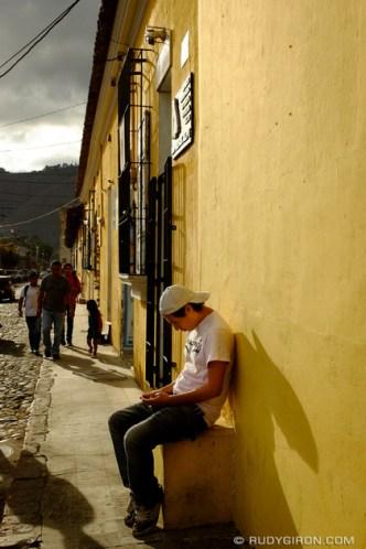 Narrow Sidewalks of Antigua Guatemala by Rudy Giron