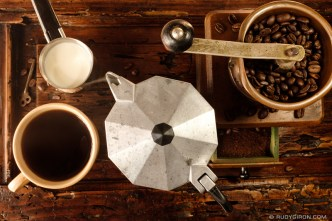 Coffee Still Life by Rudy Giron