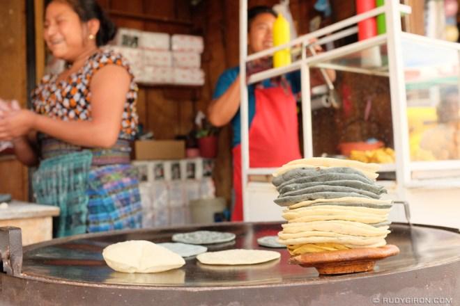 Rudy Giron: Antigua Guatemala &emdash; Yellow, Black and White Tortillas