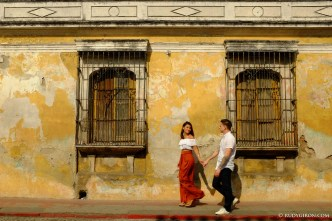 Street Photography Engagement Session in Antigua Guatemala by Rudy Giron