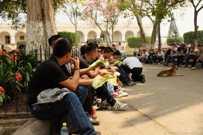 Rudy Giron: Antigua Guatemala &emdash; Eating Guatemalan Patín at the Parque Central