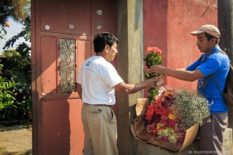 Fresh flowers home delivery in Antigua Guatemala by Rudy Giron