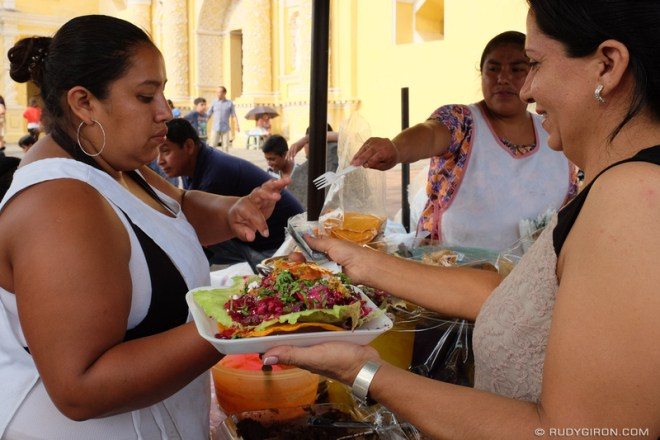Rudy Giron: Antigua Guatemala &emdash; Guatemalan Enchiladas from La Merced Vendors