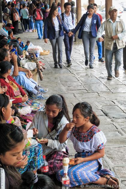 Rudy Giron: Antigua Guatemala &emdash; Sheltering from the rain