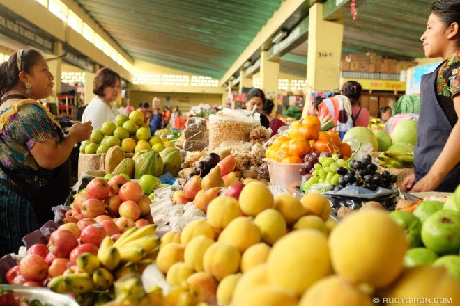 Rudy Giron: Antigua Guatemala &emdash; The Maya Women, Mercado of Antigua Guatemala