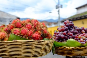 Ambulant Fruit Baskets in Antigua Guatemala