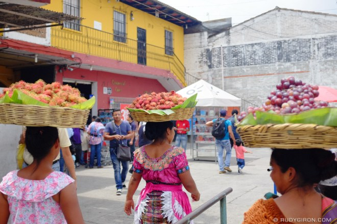 Rudy Giron: Antigua Guatemala &emdash; 3 Ambulant Fruit Baskets in Antigua Guatemala