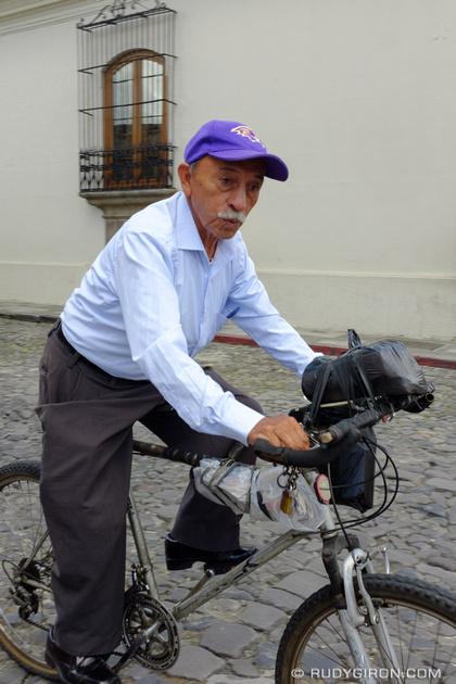 Rudy Giron: Antigua Guatemala &emdash; Old Man on a Bike