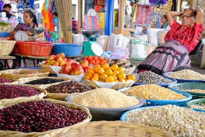 Rudy Giron: Antigua Guatemala &emdash; it's nap time inside the mercado of Antigua Guatemala