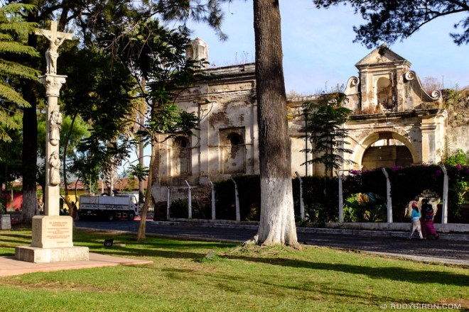 Rudy Giron: Antigua Guatemala &emdash; Spanish Monument at Parque San Sebastián, Antigua Guatemala