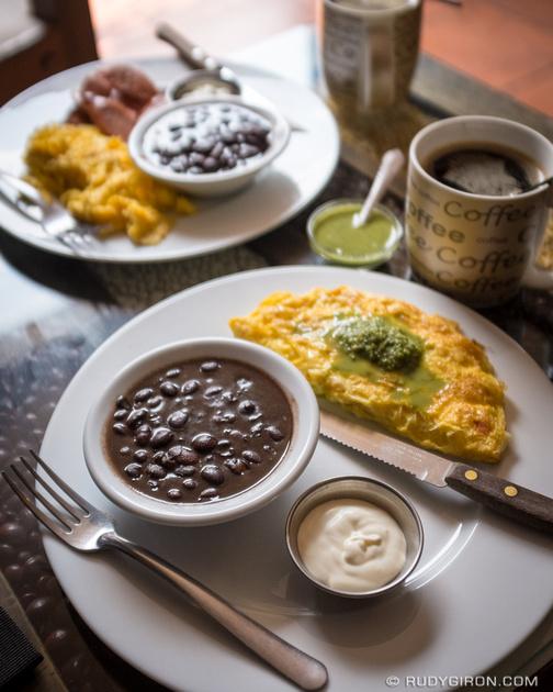 Rudy Giron: Antigua Guatemala &emdash; Guatemalan Food — Omelet Breakfast