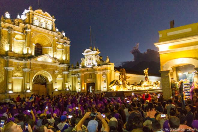 Rudy Giron: Antigua Guatemala &emdash; Lent Procession from Jocotenango near Parroquia de San Pedro in Antigua Guatemala
