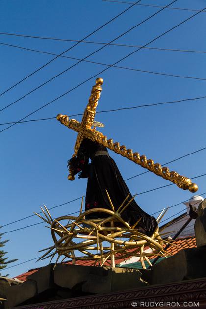 Rudy Giron: Antigua Guatemala &emdash; Efigy of Jesús Nazareno El Dulce Rabí Procession from Jocotenango