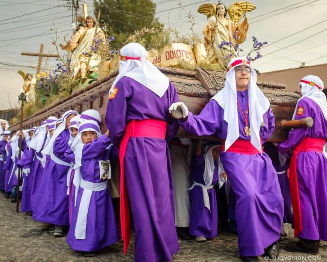 Rudy Giron: Antigua Guatemala &emdash; Holy Week Vistas — Children's Procession