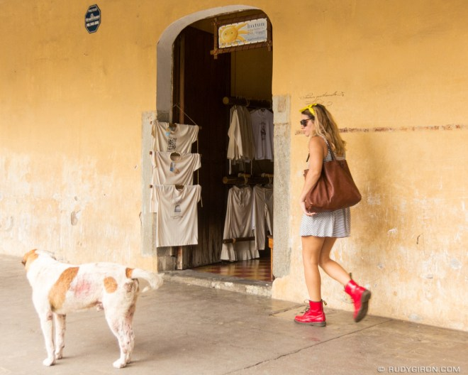 Rudy Giron: Antigua Photo Walks &emdash; Red and yellow, girl and dog