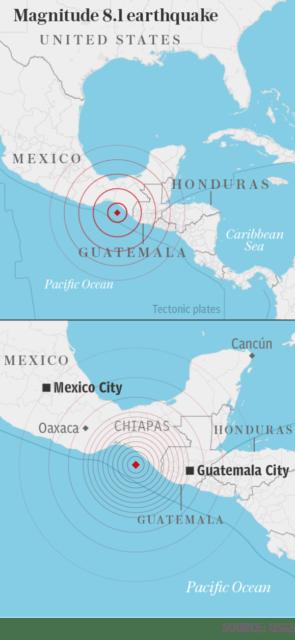 8.2 earthquake map