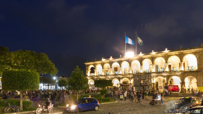 Rudy Giron: Antigua Guatemala &emdash; Manifestatons against corruption in Antigua Guatemala