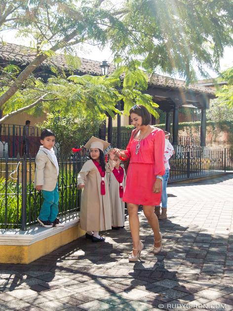 Rudy Giron: Antigua Guatemala &emdash; Mother and children celebrating end of school year