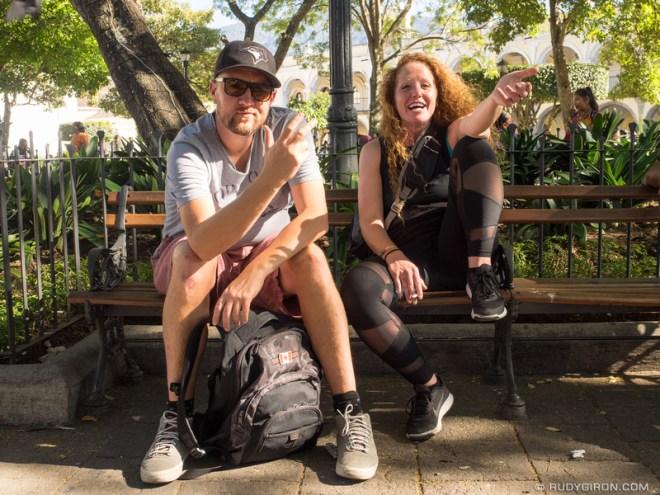 Rudy Giron: Antigua Guatemala &emdash; Tourists enjoying Winter at Parque Central in Antigua Guatemala