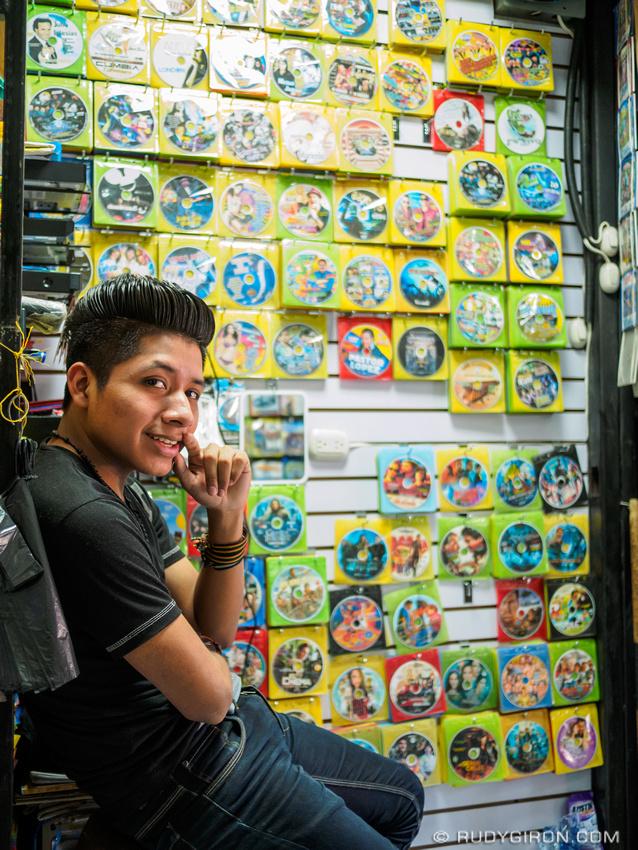 Rudy Giron: Antigua Guatemala &emdash; Movie vendor inside the market of Antigua Guatemala