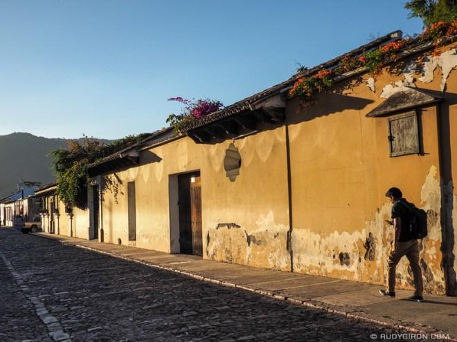Rudy Giron: Antigua Guatemala &emdash; Sunset light in Antigua Guatemala
