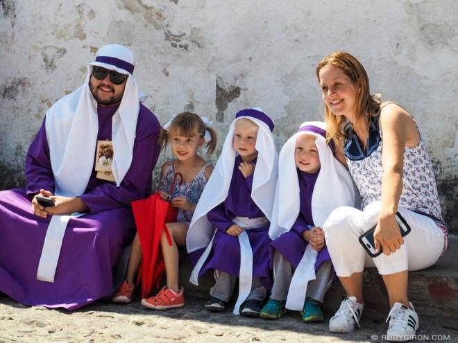 Rudy Giron: Antigua Guatemala &emdash; Family enjoys the processions of Semana Santa in Antigua Guatemala