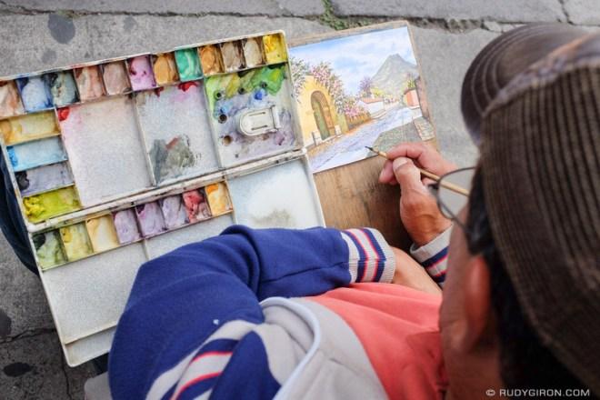 Rudy Giron: Antigua Guatemala &emdash; Watercoloring Antigua Guatemala