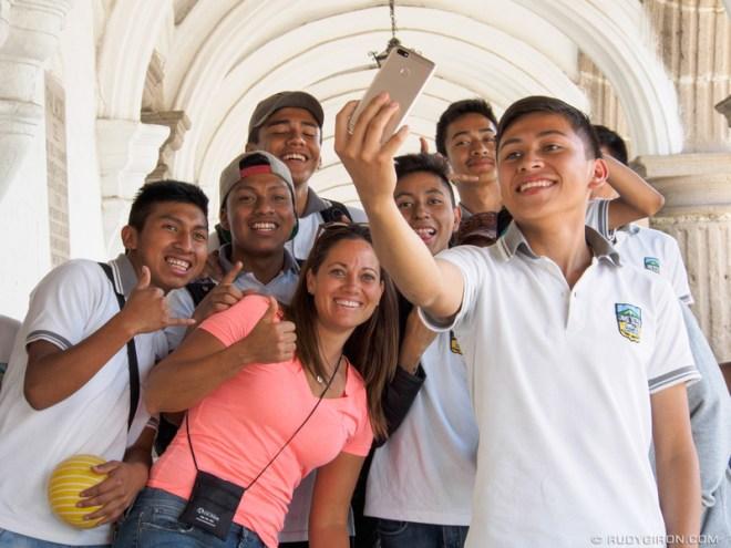 Rudy Giron: Antigua Guatemala &emdash; Antigua Makes Me Happy - Group Selfies