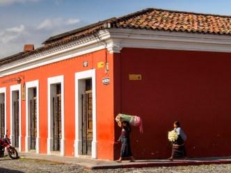 Ambulant Flower Vendors in Antigua Guatemala by Rudy Giron