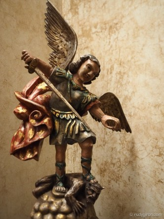 Colonial Artworks: Statue of Saint Michael the Archangel by Rudy Giron