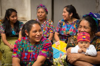 Mayan Family Gathering for Day of the Dead by Rudy Giron