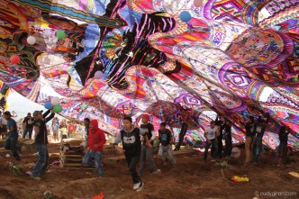 The Raising of a 17-meter Giant Kite for All Saints' Day by Rudy Giron