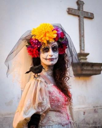 Portrait of La Llorona at Calle del Arco, Antigua Guatemala by Rudy Giron