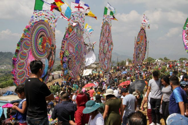 Giant Kites for All Saints' Day in Santiago Sacatepequez by Rudy Giron