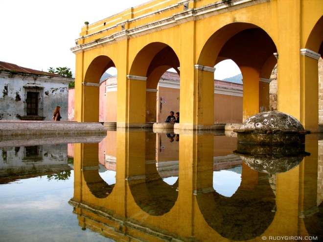 Rudy Giron: Colonial Architecture &emdash; Arches reflected at Tanque de la Unión