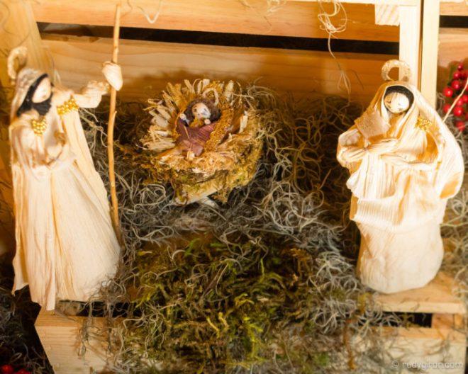 Baby Jesus in Corn-husk Navity Scene BY RUDY GIRON